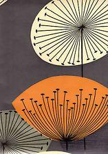 Sanderson, Retro, Slate & Orange, Dandelion Clock, Wallpaper