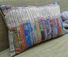 Book pillow - Library Cushion at LUMA Organic Home Luxury