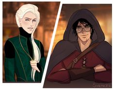 A dark and mysterious Harry meets Draco at a magical bar. Harry Potter Comics, Harry Potter Draco Malfoy, Harry Potter Ships, Harry Potter Anime, Harry Potter Fan Art, Harry Potter Fandom, Harry Potter Universal, Harry Potter Memes, Harry Potter Hogwarts