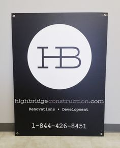 Printed on vinyl, laminated, and mounted to coroplast, this lightweight sign will be hanging at job sites across the city. #OutdoorSignage #SpeedproImaging