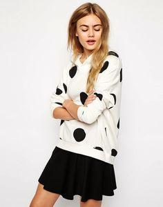Only Polka Dot Hooded Sweatshirt