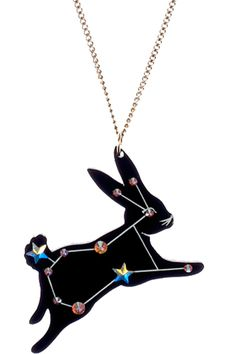 Sky Lab Rabbit Necklace, £40: http://www.tattydevine.com/shop/by-product/collections/aw13/sky-lab-rabbit-necklace.html