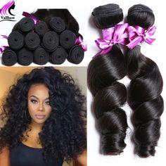 Peruvian Virgin Hair Loose Wave 4 Bundles Peruvian Loose Wave Curly Weave Human Hair Peruvian Curly Hair Loose Curly Virgin Hair