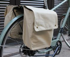 panniers... these are expensive but maybe can find on etsy or make my own?