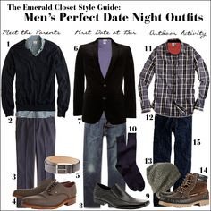 Men's Perfect Date Night Outfits for Covet Fridays - The Emerald Palate Date Outfits, Date Outfit Summer, Date Outfit Casual, Night Outfits, Winter Outfits, Casual Outfits, Slimming World, Outfit Trends, Outfit Ideas