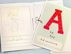 printable alphabet book - with only lines and blank picture boxes to allow children to write and create own book!