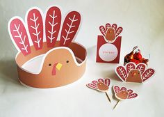 Cute Thanksgiving printable set for kids