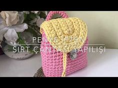 Crochet Gifts, Knit Crochet, Baby Knitting, Crochet Projects, Straw Bag, Weaving, Backpacks, Couture, Hats