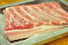 Usušte si doma prerastenú slaninku, postačí vám na to desať dní » Prakticky.sk Food 52, Vanilla Cake, Tiramisu, Barbecue, Food And Drink, Pizza, Bread, Cheese, Meals
