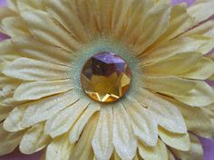 Sparkly Yellow Flower by ang744 on Etsy, $5.00