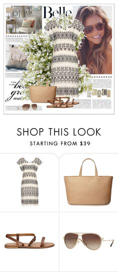 """""""Sem título #712"""" by soniamazeto ❤ liked on Polyvore featuring The Beach People, Eric Javits, Versace and New Growth Designs"""