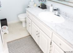 One Room Challenge Final Reveal - Bathroom Painting Countertops, Marble Painting, Builder Grade, Diy Kitchen, Home Projects, Modern Farmhouse, Vanity, Challenges, Bath Ideas