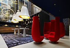 Andaz Amsterdam hotel welcomes its guests into a weird and wonderful world of eye-catching interiors and eye-popping colours.