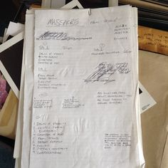 """Handwritten notes from Massacre's """"From Beyond""""! How's that for ancient for ya?"""