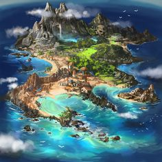 Island map by Tsabo6.deviantart.com on @DeviantArt