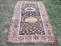 Oushak Rug kilim 93 x 48 inches Home  Living Room by VINTAGECOME