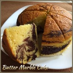 I love butter marble cake baked in small cake size with moderate butter content. Although cake with higher butter content smells terrific, i.