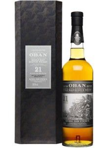 Oban 21 Year Old Single Malt #Scotch Whisky.  Only 2,860 bottles of this #whisky, which was matured for 21 years and bottled at cask strength, have ever been produced. | @Caskers