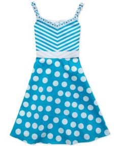 1de07f07c7c Rare Editions Girls  Stripe-to-Polka Dot Dress   Reviews - Dresses - Kids -  Macy s