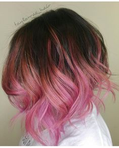 """ Pink Cotton Candy Balay-Lob  by @taylorrae_hair #hotonbeauty #hothairvids"""
