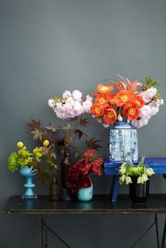 Simply delightful splashes of messy colour.
