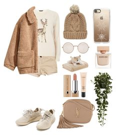 """Sweather weather 🍂❄️"" by duezziey on Polyvore featuring Current/Elliott, Dorothy Perkins, H&M, Chicnova Fashion, Yves Saint Laurent, Mi-Zone, Illesteva, Narciso Rodriguez, Casetify and MAC Cosmetics"