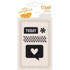 Amy Tangerine CUT & PASTE Clear Stamp - Today