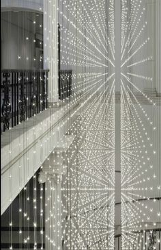 Museum of the City of New York Rebranding. It consists of 5,243 LED pixels hung on 210 tripartite strands.