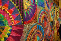 karen stone quilts | Karen Stone's New York Beauty quilt pattern - love the colors!
