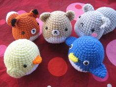 Amigurumi Critters 2  by awkwardsoul, via Flickr