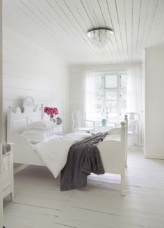 Love all the white - with a hint of gray or tiffany blue... Future daughter's room!