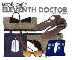 """""""Doctor Who"""" by wearwhatyouwatch ❤ liked on Polyvore featuring Bottega Veneta, Burberry, Dorothy Perkins, Topshop, bow headbands, bandeau bikinis, tardis, doctor who, tortoise sunglasses and matt smith"""