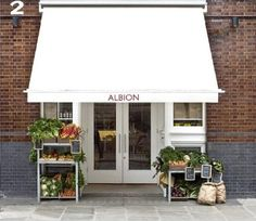 fresh produce outside of Conran's  Albion Cafe