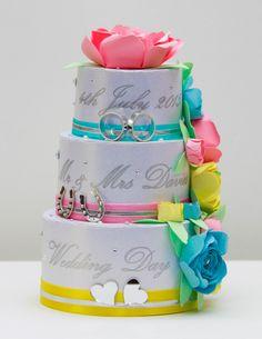 Pastel Rose Wedding Cake.