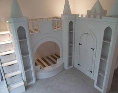 Children's Enchanted Princess Palace Bunk Bed