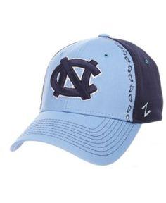 Zephyr North Carolina Tar Heels Pattern Pipe Stretch Cap - Blue L/XL