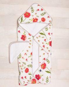 Hooded Towel Set - Summer Poppy - Pre-order now!