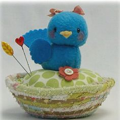 Sweet birdie pincushion