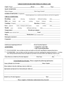 Incident Report Form Child Care  Click On The Form To View And