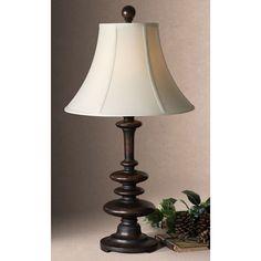 Uttermost Arnett Round Bell Shade Metal Table Lamp (Arnett), Brown