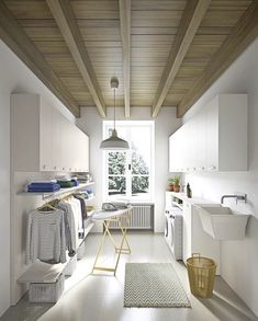 54 Amazing DIY Laundry Room Storage Shelves Ideas 54 Am… – Laundry Room İdeas 2020 Modern Laundry Rooms, Laundry Room Layouts, Laundry Room Remodel, Ikea Laundry Room, Laundry Decor, Laundry Baskets, Laundry Area, Laundry Closet, Küchen Design