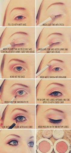 pink eye tutorial - pretty!
