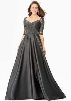 A-line/Princess Half Sleeve V Neck Mother of the Bride Dresses with Pockets Sequins Pleated Beading Simple Kurta Designs, Mother Of The Bride Dresses Long, Plus Size Fall, Prom Dresses, Formal Dresses, Half Sleeves, I Dress, Plus Size Dresses, Vintage Inspired
