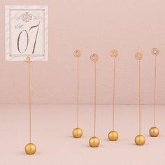 Round Table Number Holders in 2 Colors - Wedding Stationery Holders