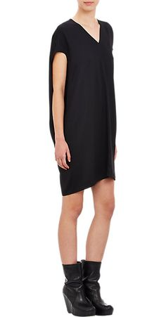 Rick Owens V-neck Cocoon Dress - Short - Barneys.com