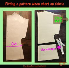 Fitting a pattern when short on fabric. The waist is an area where piecing is easy to do