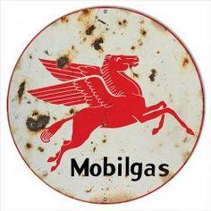 MOBIL GAS OIL DECAL 2X2.25 PEGASUS HORSE VINTAGE STYLE