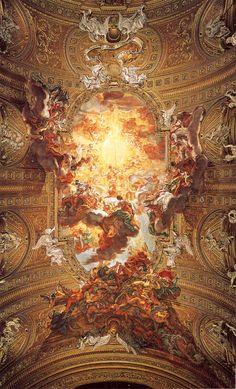 Giovanni Gaulli - Culto do Santo Nome de Jesus 1670-83