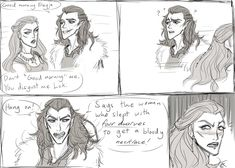 Here have this sketchy comic where Loki completely friggin exposes Freyja, inspired by a comment written by   :'^) *Characters from Norse Mythology Art (c) Me
