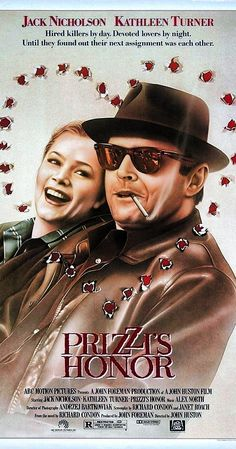 Directed by John Huston. With Jack Nicholson, Kathleen Turner, Robert Loggia, John Randolph. A professional hit man and hit woman fall in love. Popular Movies, Great Movies, Love Movie, Movie Tv, Robert Loggia, Cinema Posters, Movie Posters, Kathleen Turner, Oscar Winning Movies